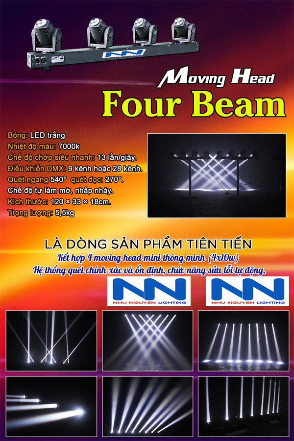 Đèn Moving head four beam