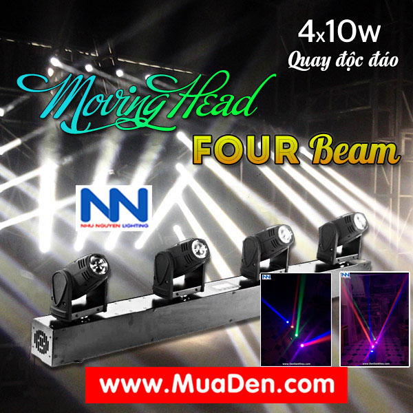 DEN VU TRUONG Moving led four beam  cực sáng