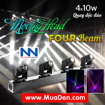 DEN VU TRUONG Moving led four beam