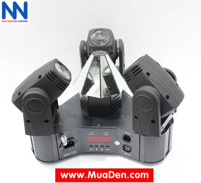 Đèn moving head 3 đầu beam mini dành cho cafe dj 1