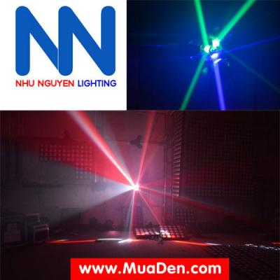 Đèn moving head 3 đầu beam mini dành cho cafe dj 11