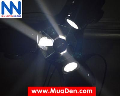 Đèn moving head 3 đầu beam mini dành cho cafe dj 12