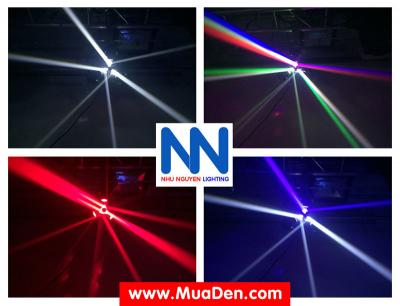Đèn moving head 3 đầu beam mini dành cho cafe dj 13