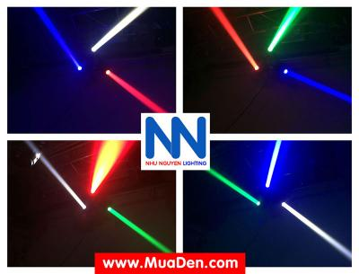 Đèn moving head 3 đầu beam mini dành cho cafe dj 14