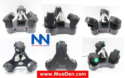 Đèn moving head 3 đầu beam mini dành cho cafe dj 2