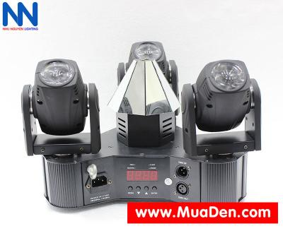 Đèn moving head 3 đầu beam mini dành cho cafe dj 3