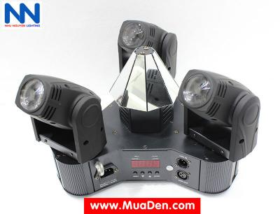 Đèn moving head 3 đầu beam mini dành cho cafe dj 4