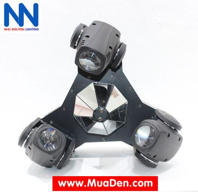 Đèn moving head 3 đầu beam mini dành cho cafe dj 5