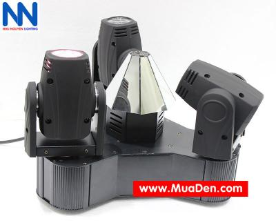 Đèn moving head 3 đầu beam mini dành cho cafe dj 6