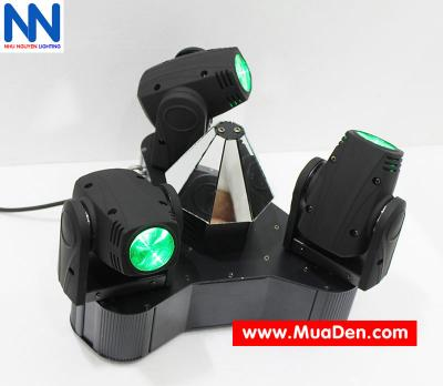 Đèn moving head 3 đầu beam mini dành cho cafe dj 7