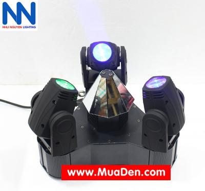 Đèn moving head 3 đầu beam mini dành cho cafe dj 8