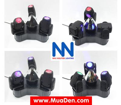 Đèn moving head 3 đầu beam mini dành cho cafe dj 9