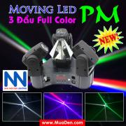 Đèn moving head 3 đầu beam mini dành cho cafe dj